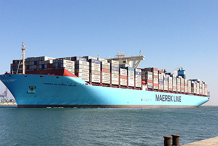 The worlds biggest cargo container ships